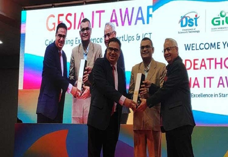 Matrix Comsec recognized as the Best Electronics Company at Gesia annual awards 2019