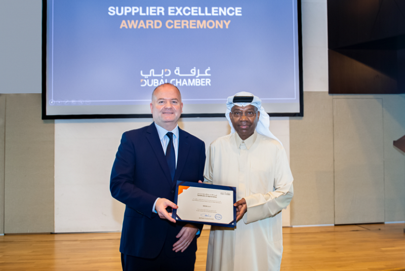 ServeU receives service excellence award from Dubai Chamber