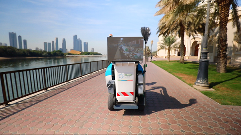 Autonomous street cleaning machine put in active duty in Sharjah, UAE