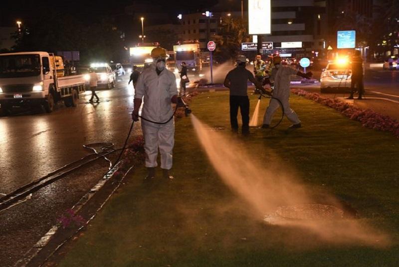 Dubai launches coronavirus street clean-up operation