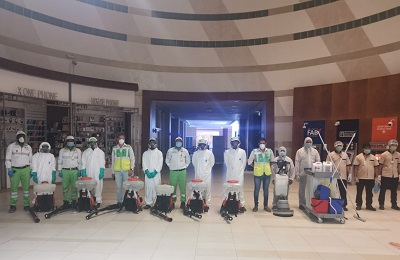 Tadweer participates in disinfection of shopping centres in Abu Dhabi