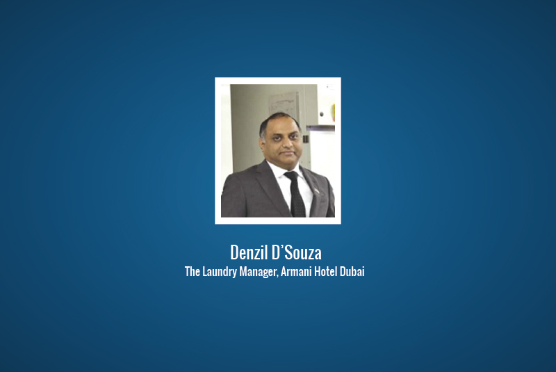 Interview: Denzil D'Souza, the Laundry Manager at Armani Hotel Dubai
