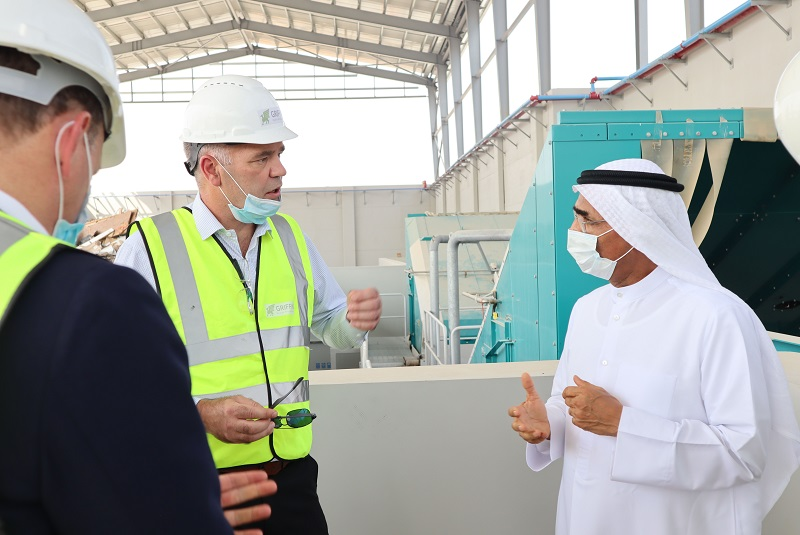 UAE Minister of Climate Change and Environment tours waste-to-energy plant, marine environment research centre in Umm Al Quwain