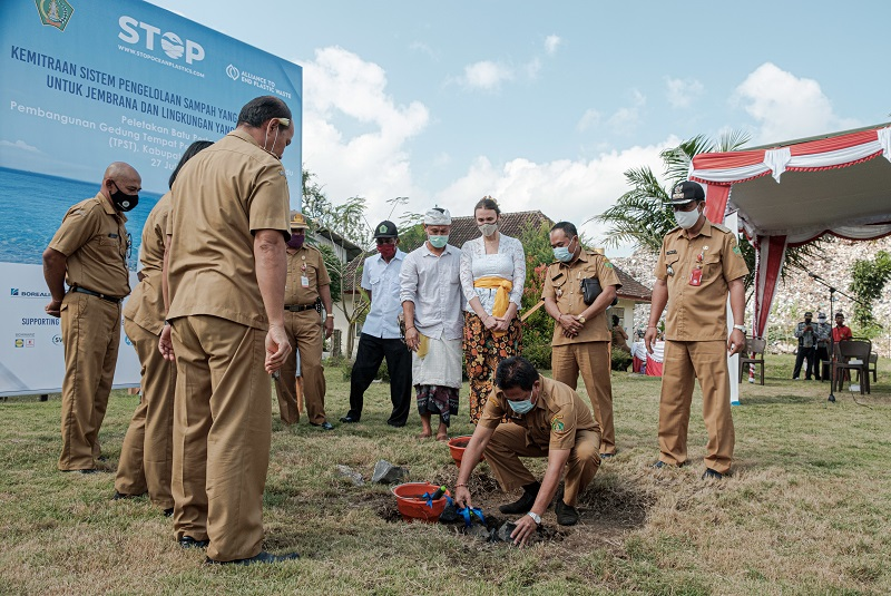 Ground-breaking ceremony for Bali waste processing facility