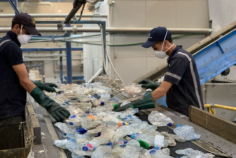 The first bottle-to-bottle food grade recycling pet plant in the Middle East