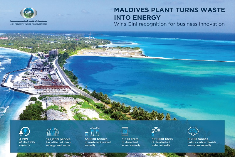 ADFD-funded waste-to-energy project in Maldives receives recognition for innovation
