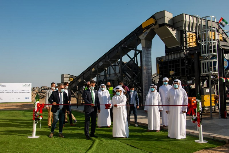 Tadweer announces opening of its expanded used tyre recycling facility