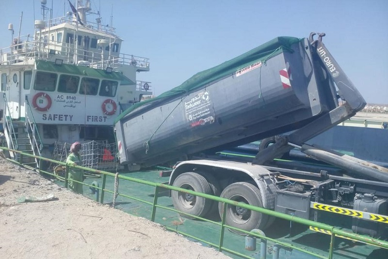 Marine waste vessel launched in Al Dhafra Region, Abu Dhabi