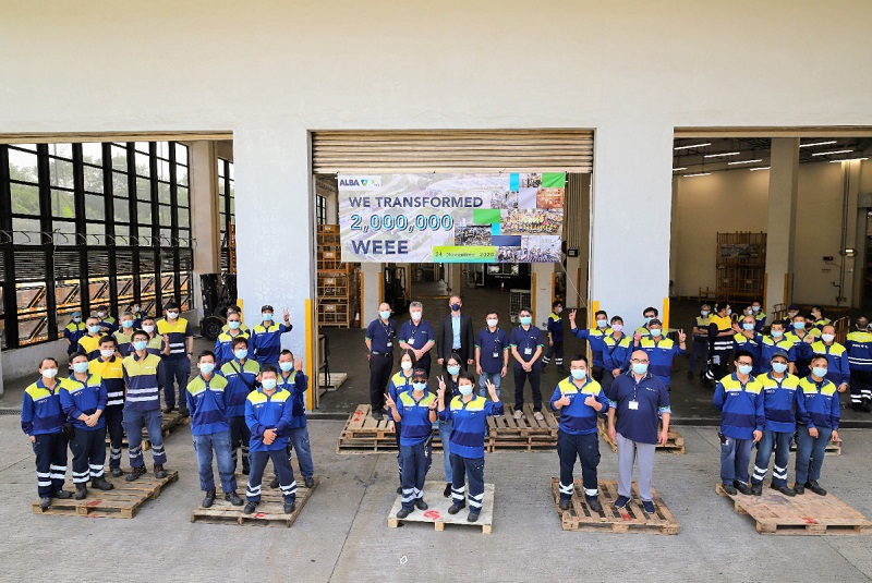 ALBA Group celebrates two million recycled units of WEEE equipment in Hong Kong