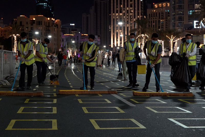 Emrill cleans Downtown Dubai after new year celebrations in record-breaking time