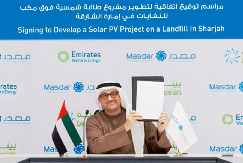 Masdar and Bee'ah JV to develop UAE's first solar landfill project