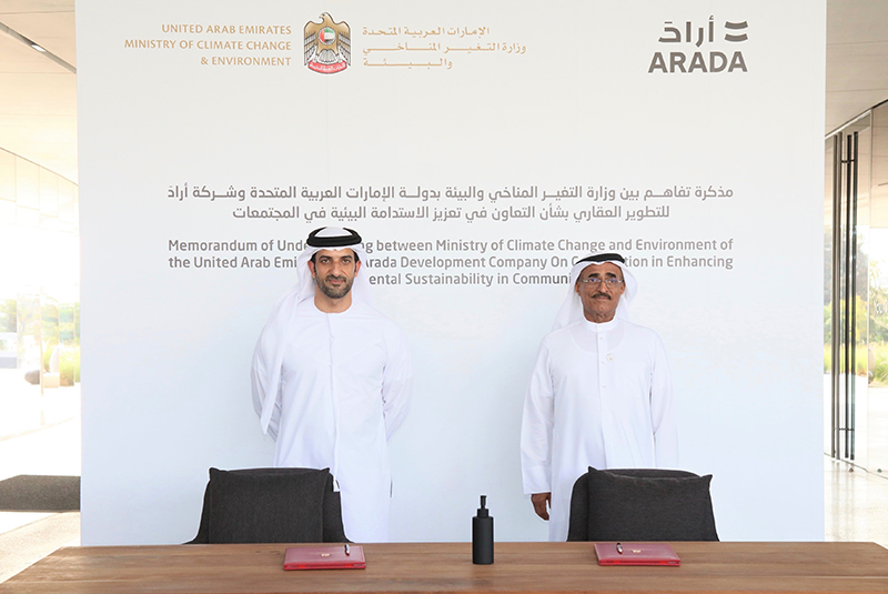 Ministry of Climate Change and Environment and Arada sign agreement on enhancing environmental sustainability