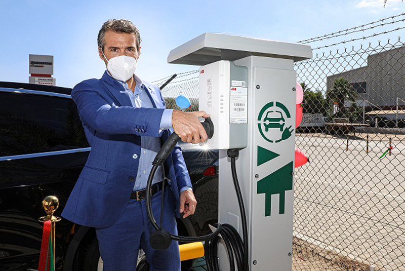 Bridgestone installs electric vehicle chargers at key tyres store in Middle East and Africa