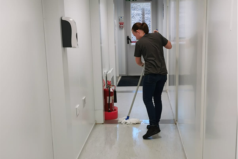 What does medical cleaning look like in the UK?