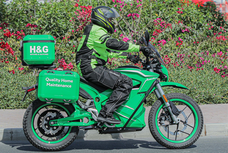 Hitches & Glitches adds first electric motorbike to home maintenance fleet
