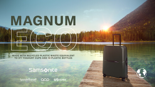 Samsonite unveils sustainable luggage collection crafted from recycled plastics