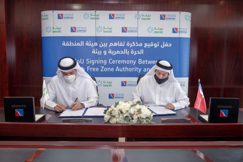 Hamriyah Free Zone Authority and Bee'ah renew strategic partnership