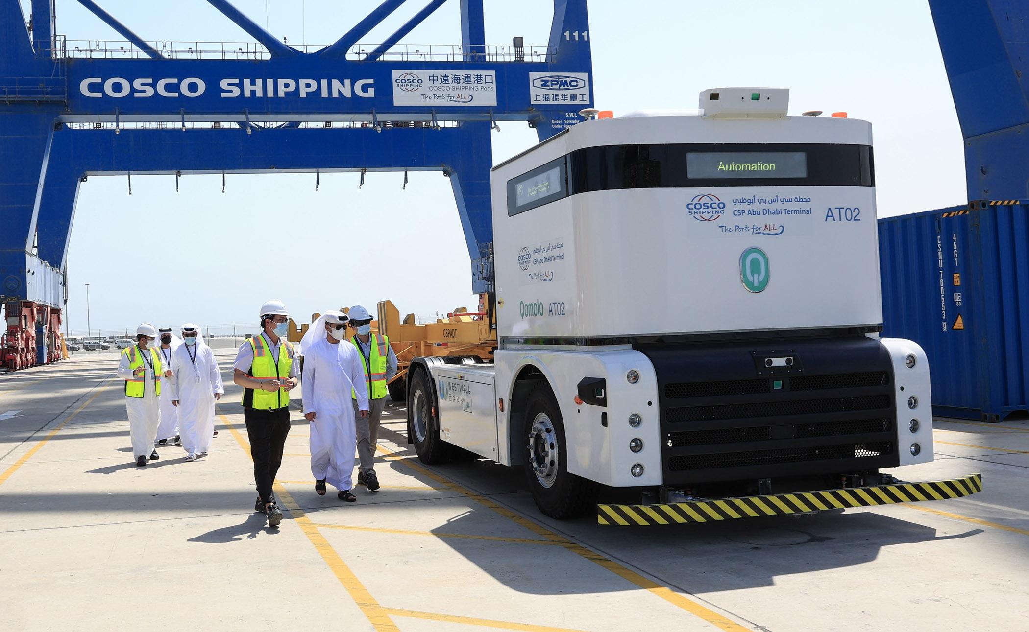 CSP Abu Dhabi Terminal and Khalifa Port implement region's first autonomous port truck system