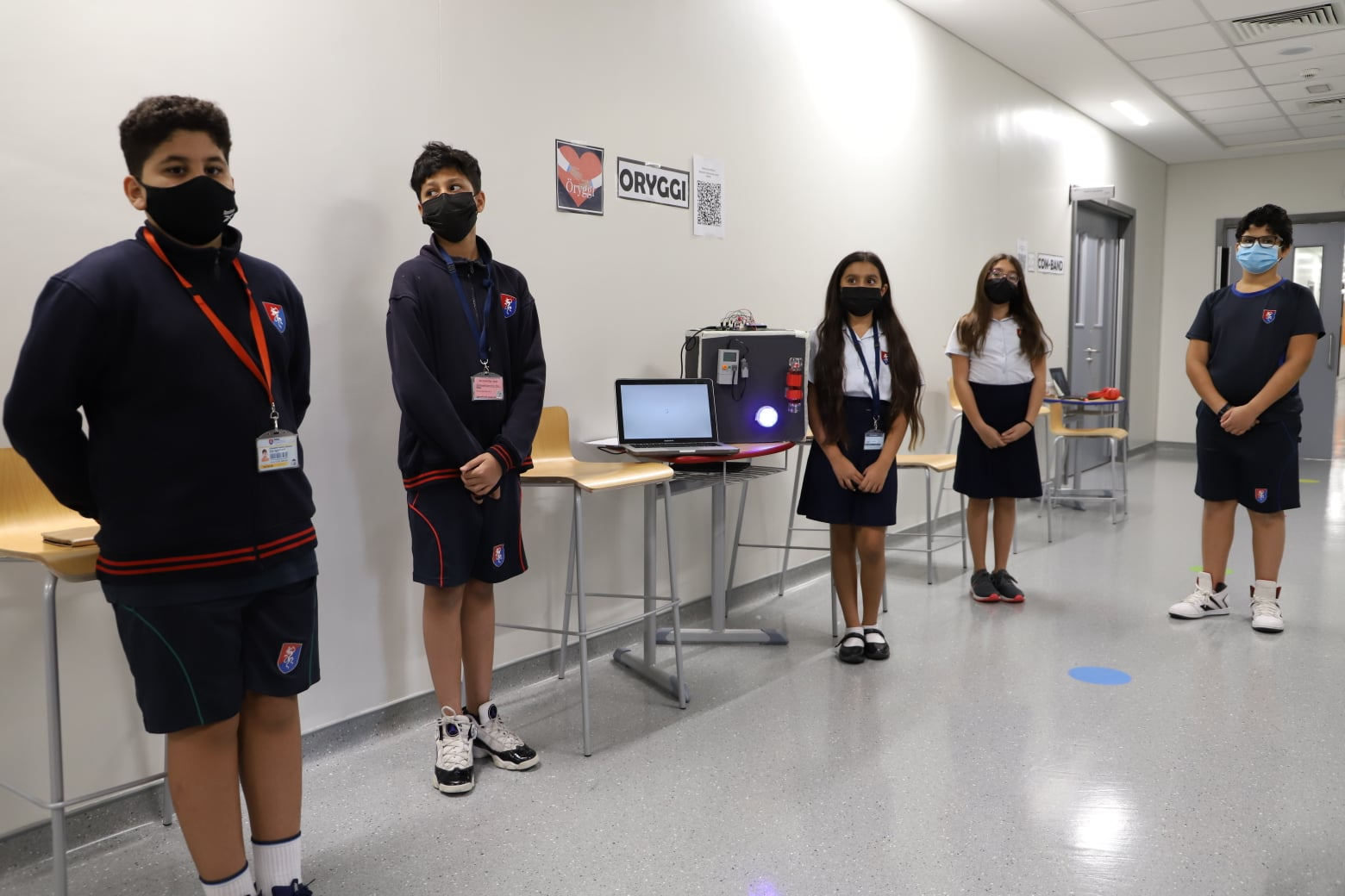 Students from GEMS Education create disinfecting solutions to make the world safer