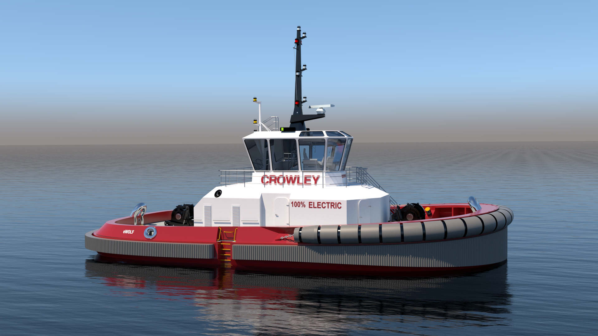 Crowley to build and operate the first fully electric US tugboat