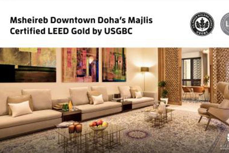 Msheireb townhouses Majalis awarded prestigious LEED gold green building certification