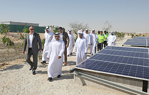 Region's first battery solar system operational at Abu Dhabi landfill