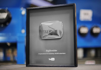 SSI Shredding Systems YouTube channel awarded The Silver Play Button