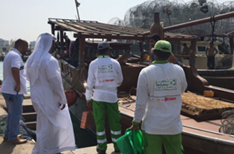 Tadweer organises clean-up and awareness campaign at the fishermen's port in Abu Dhabi, UAE