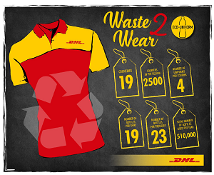 DHL Express introduces recycled eco-uniforms as part of 'Go Green' drive