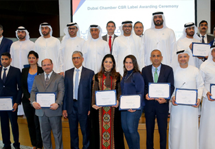 Dubai Chamber CSR Label awarded to 18 companies