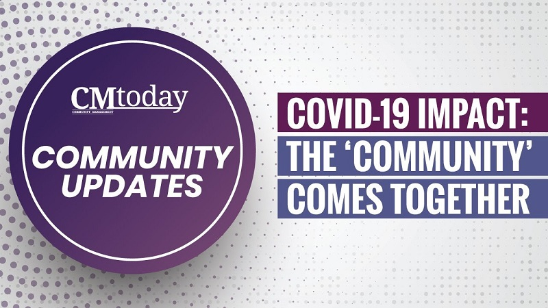 COVID-19 : The Community comes together